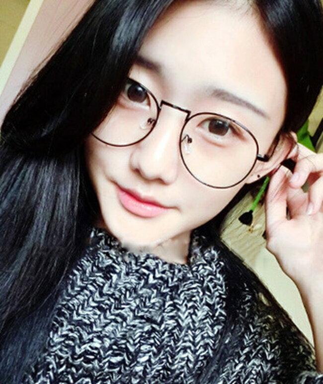 50%OFF【J020076GLS】韓版金屬細邊框眼鏡框圓形女款文藝範潮男士眼鏡架眼鏡框架 - 限時優惠好康折扣