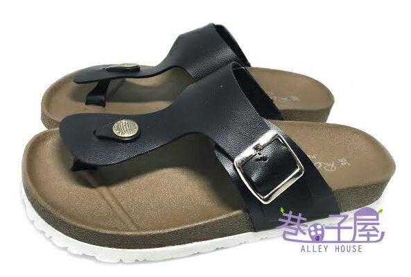 【巷子屋】ROOSTER公雞 女款經典勃肯夾腳拖鞋 [2330] 黑色 MIT台灣製造 超值價$198