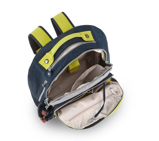 OUTLET代購【KIPLING】時尚經典Seoul旅行袋 斜揹包 肩揹包 後揹包 黃藍 2