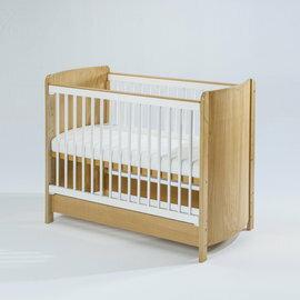 【淘氣寶寶●下標前請先提問】BendiI-LUFLEX升降碳纖管嬰兒大床-原木白管77x144x高96cm【全配】