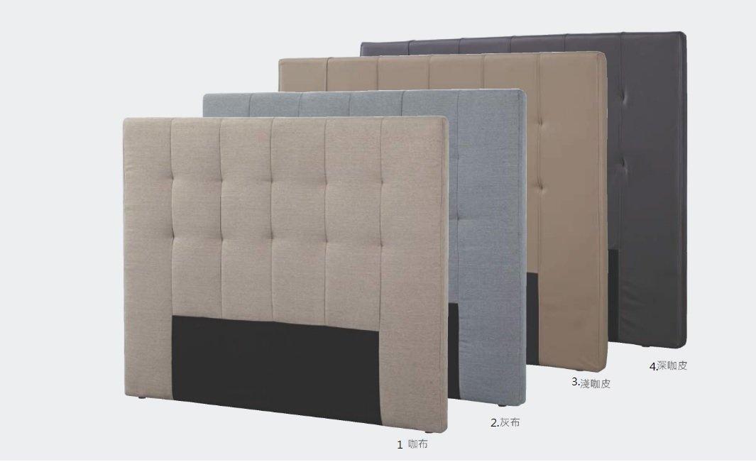 【石川家居】GD-472-2貝克直條6尺皮革床頭片_淺咖啡 編號3(不含其他商品)台中以北搭配車趟免運