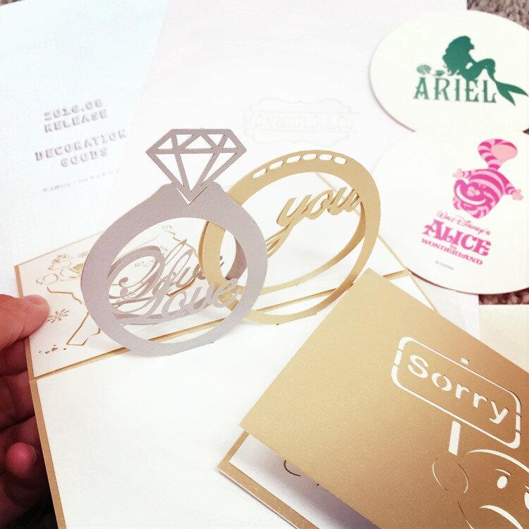 PGS7 日韓文具商品 - 立體 造型 卡片 生日賀卡 / 萬用卡 / 情人節【SHT6357】
