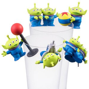 18041100003 擺飾杯緣公仔P5-三眼怪 玩具總動員 外星人 三眼怪 杯緣子 公仔 收藏 擺飾 真愛日本