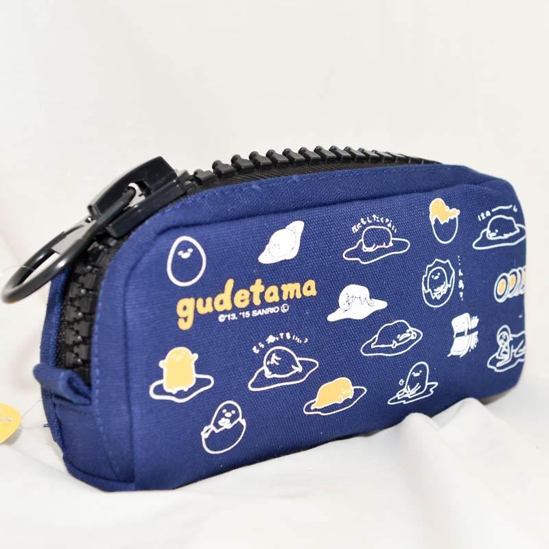 蛋黃哥 布面大拉鍊 筆袋 化妝包 包包 收納包 日本正版商品
