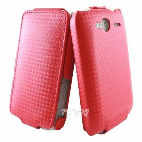 HTC Wildfire S (野火 S)  鑽石紋 下掀式手機皮套-吊卡包裝 ◆送很大!!! SEEHOT ATM智慧晶片+SIM+56 IN1 讀卡機◆