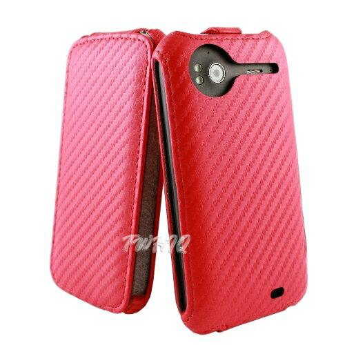 HTC Sensation /Sensation XE 感動機 動感卡夢紋 下掀式 手機皮套◆贈送! 專用型式 皮套/保護殼◆