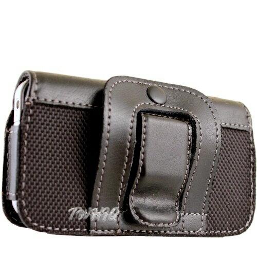 Garmin-Asus M10 腰夾式/穿帶式 (真皮)橫式手機皮套◆送很大!! USB 車充◆