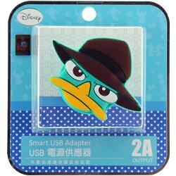 【Disney】立體造型2A充電轉接插頭 USB轉接頭-泰瑞◆贈送!黃色小鴨耳機塞◆