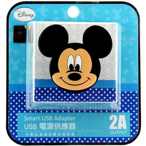 【Disney】立體造型2A充電轉接插頭 USB轉接頭-米奇◆贈送!黃色小鴨耳機塞◆