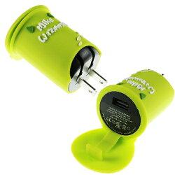 【Disney】立體造型2A充電轉接插頭 USB轉接頭-大眼仔◆贈送!黃色小鴨耳機塞◆