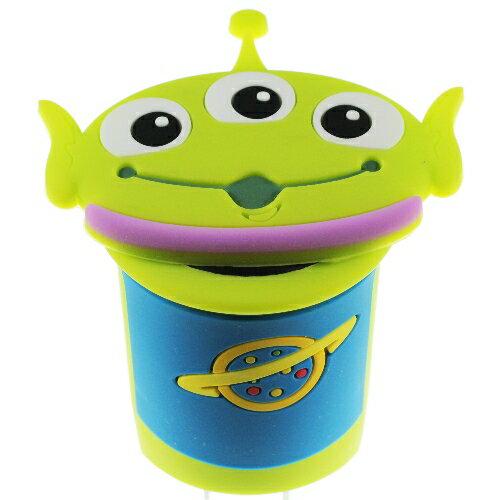 【Disney】立體造型2A充電轉接插頭 USB轉接頭-三眼怪◆贈送!黃色小鴨耳機塞◆