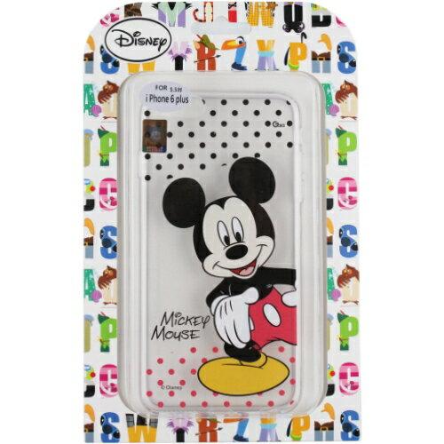 【Disney】Apple iPhone 6 Plus (5.5吋) 彩繪透明保護軟套-米奇