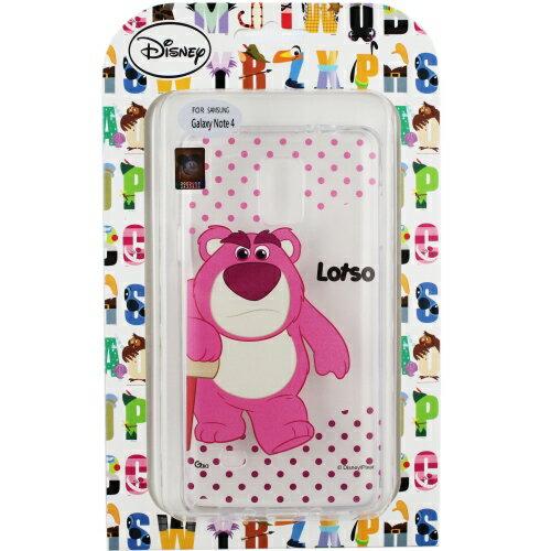 【Disney】Samsung Galaxy Note 4 彩繪透明保護軟套-熊抱哥