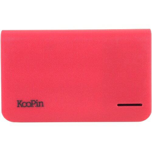 KooPin 立體格紋行動電源 通過BSMI認證 台灣製 K2-10400◆送!i-COSE (真皮) 抽拉式 皮套◆