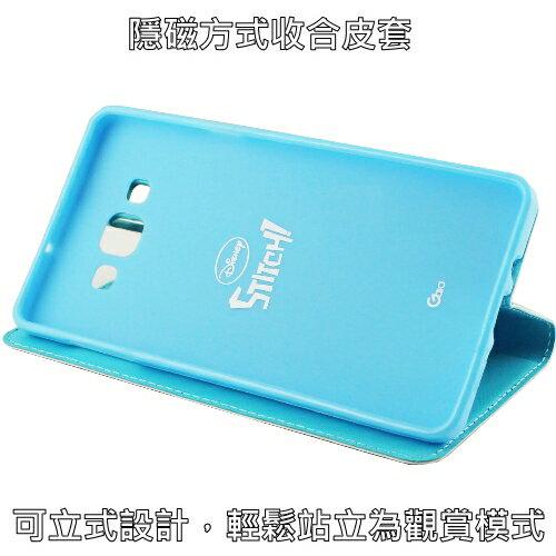 【Disney】Samsung Galaxy A7 哈囉系列 隱磁側掀皮套-史迪奇