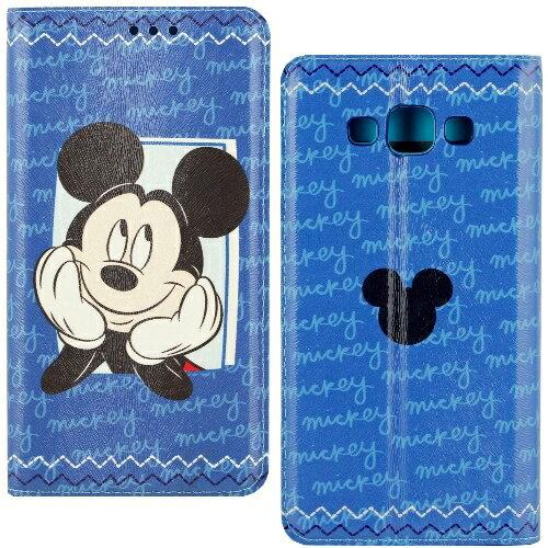 【Disney】Samsung Galaxy A7 哈囉系列 隱磁側掀皮套-米奇