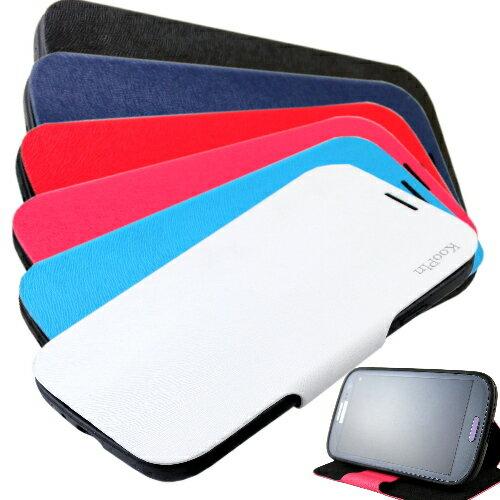 KooPin HTC Butterfly S 蝴蝶S 貂紋薄型 可立式側掀皮套