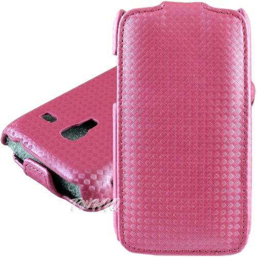 三星 Galaxy Ace Plus S7500 行動魅力機 鑽石紋下掀式皮套