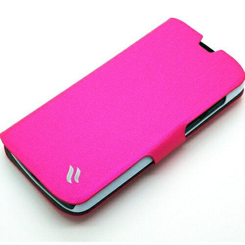 Redberry HTC Desire 500 ^(可立式^)水絲紋薄型筆記本皮套