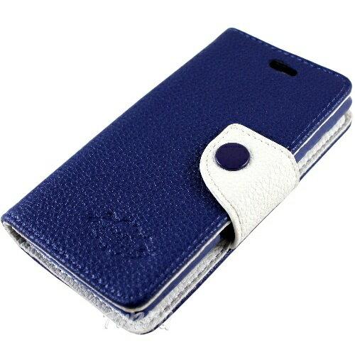 KooPin HTC Desire 200 雙料縫線 側掀(立架式)皮套