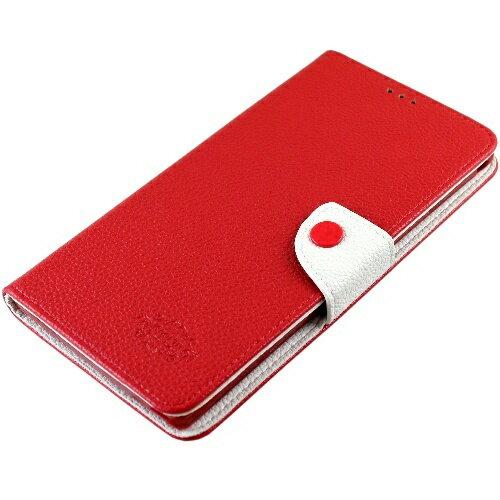 KooPin LG G2 (D802) 雙料縫線 側掀(立架式)皮套