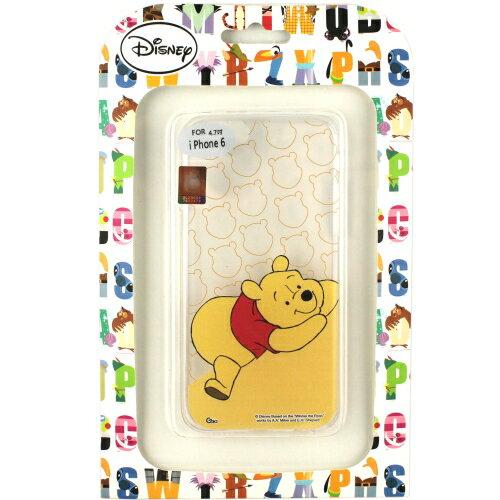 【Disney】Apple iPhone 6 (4.7吋) 微笑系列彩繪透明保護軟套