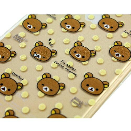 Rilakkuma 拉拉熊/懶懶熊 Apple iPhone 6 (4.7吋) 彩繪透明保護軟套-繽紛大頭熊