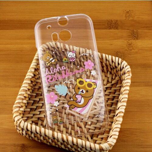 Rilakkuma 拉拉熊/懶懶熊 HTC One (M8) 彩繪透明保護軟套-Fun Fun熊