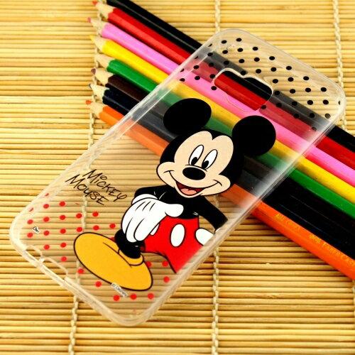 【Disney】HTC ONE M9 彩繪透明保護軟套