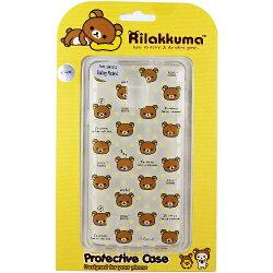 Rilakkuma 拉拉熊/懶懶熊 Samsung Galaxy Note 4 彩繪透明保護軟套-繽紛大頭熊