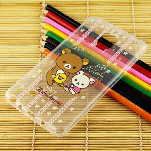 Rilakkuma 拉拉熊/懶懶熊 Samsung Galaxy Note Edge 彩繪透明保護軟套