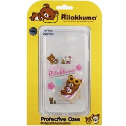 Rilakkuma 拉拉熊 Samsung Galaxy Note 2 /N7100 彩繪透明保護軟套-Fun Fun熊