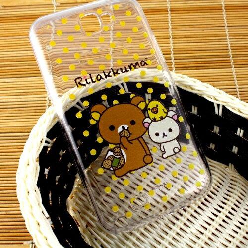 Rilakkuma 拉拉熊 Samsung Galaxy Note 2 /N7100 彩繪透明保護軟套-點點好朋友