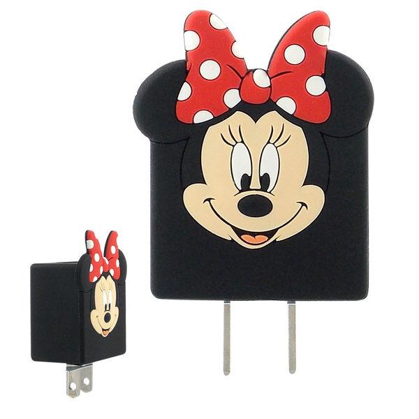 【Disney】可愛造型充電轉接插頭 USB充電器-米奇/米妮