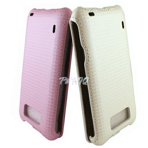 HTC Titan 泰坦機^(X310E^) 下掀式 掀蓋式皮套 鑽石紋限定款◆送很大^!