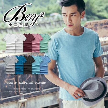 ☆BOY-2☆【PPK82136】Vesti休閒男裝素面V領短袖T恤 - 限時優惠好康折扣