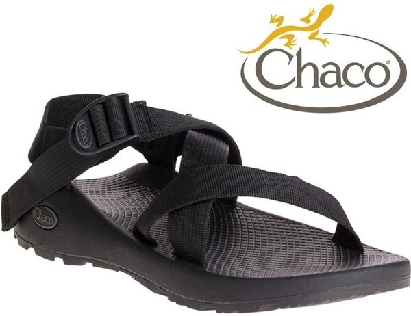 Chaco涼鞋越野運動涼鞋水陸鞋綁帶涼鞋-標準款男美國佳扣CH-ZCM01H405黑