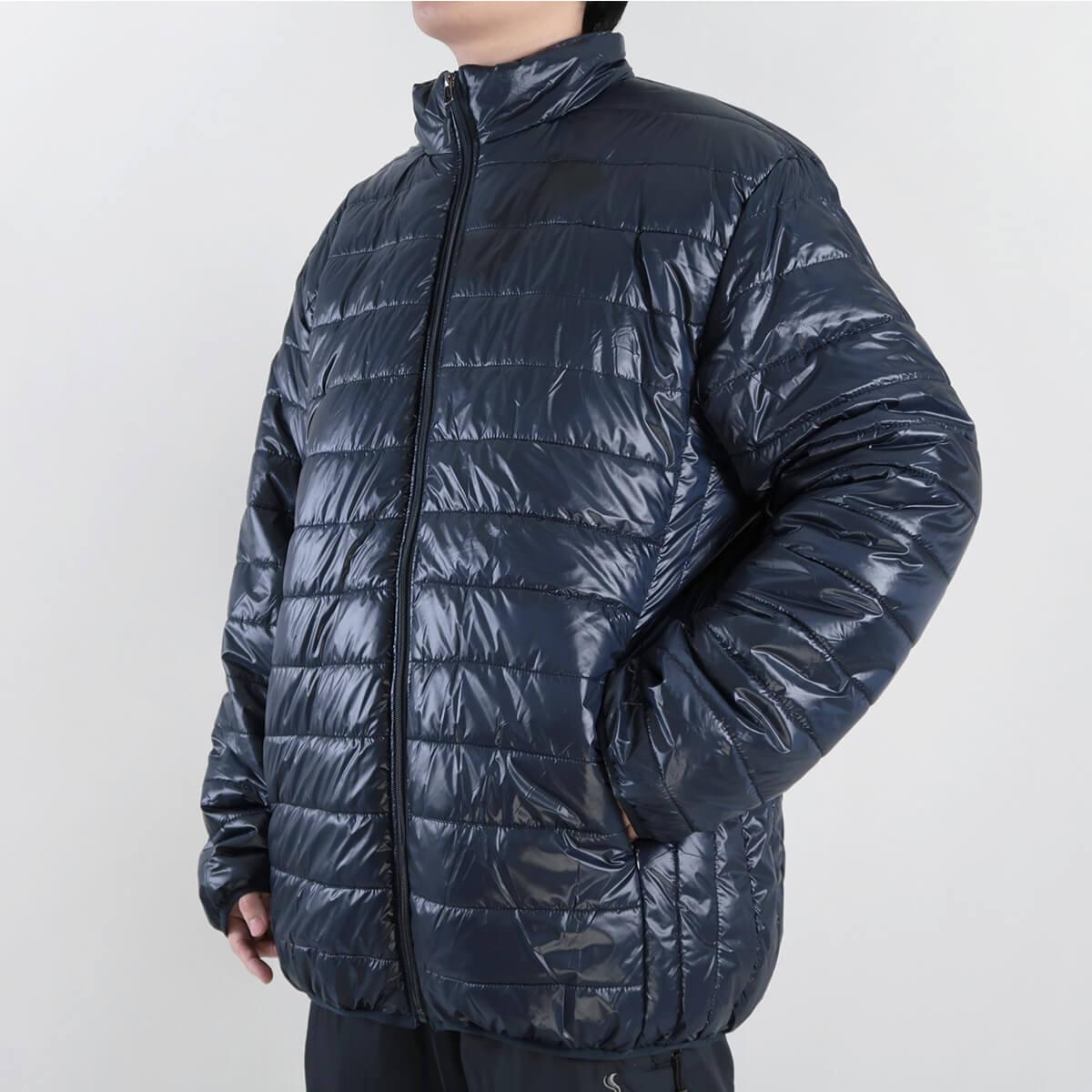 加大尺碼舖棉保暖外套 超輕量夾克外套 騎士外套 擋風外套 立領休閒外套 鋪棉外套 藍色外套 黑色外套 WARM PADDED JACKET (321-A831-08)深藍色、(321-A831-21)黑色、(321-A831-22)灰色 6L 7L 8L (胸圍58~62英吋) [實體店面保障] sun-e 2