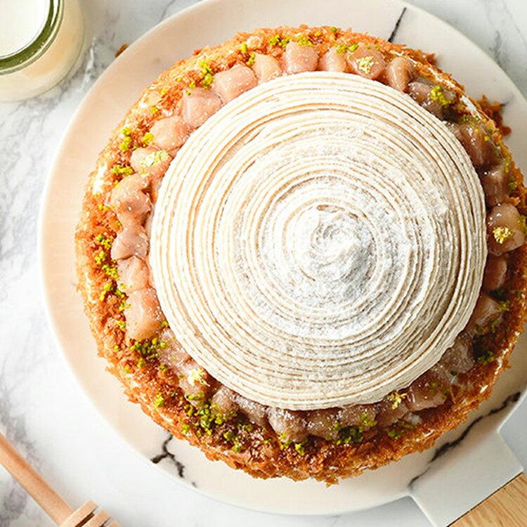 ❤濃情蜜芋6吋芋泥蒙布朗❤採用大甲芋頭研製純芋泥餡,布丁,新鮮野莓果組成三層不同口感滋味~