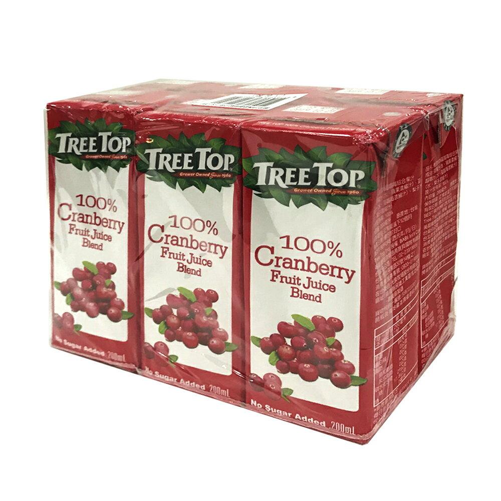 樹頂100%純【蔓越莓綜合果汁】—〔200ml6入/組;4組/箱〕
