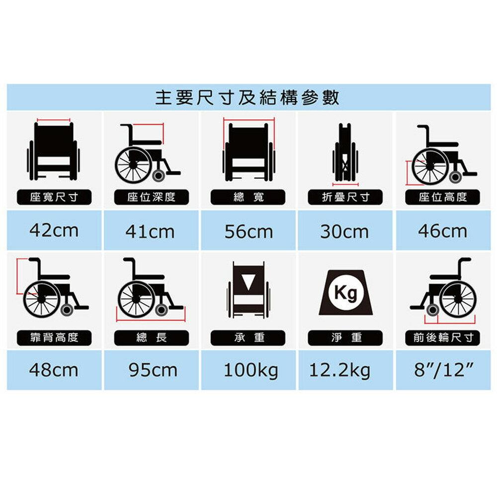 必翔銀髮 移位型看護輪椅 PH-163BF (未滅菌) 輪椅 【生活ODOKE】