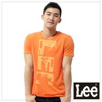【短T單件390】 Lee 圓領橘黃色文字印刷短袖T恤 - 男款(橘)