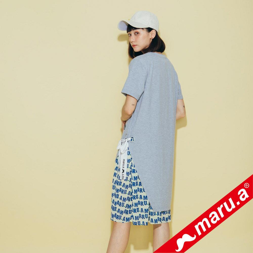【maru.a】兩件式雪紡滿版文字內搭洋裝(2色)8327117 5