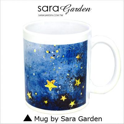 【全館9折快閃購物】客製化 陶瓷 馬克杯 咖啡杯 水彩潑墨星空 Sara Garden【M0320103】