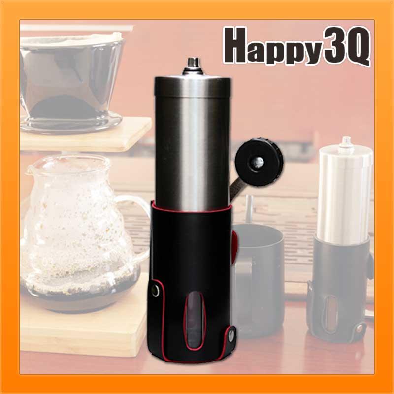 現磨現泡手動攜帶方便香料咖啡豆粗細可調研磨機磨豆機附皮套【AAA1607】