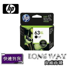 HP 63XL 原廠黑色高容量墨水匣 ( F6U64A ) ( 適用: DeskJet 3630/2180/1110) F6U64AA