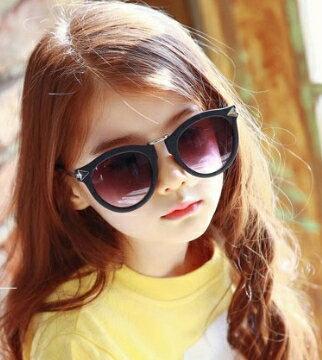 Kocotree◆ 新款時尚豹紋花色磨砂鏡框紫外線護目兒童成人親子款太陽眼鏡-磨砂黑(兒童/成人款)