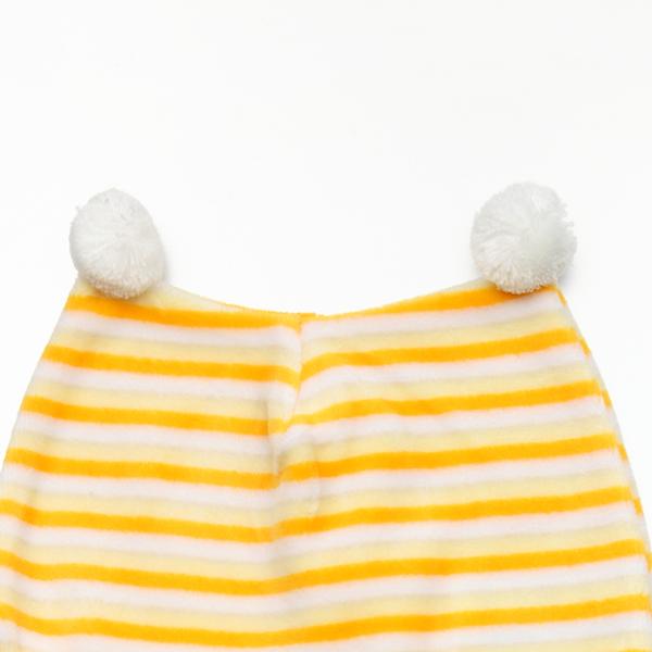 『121婦嬰用品館』黃色小鴨 橫條雙角嬰兒帽 2