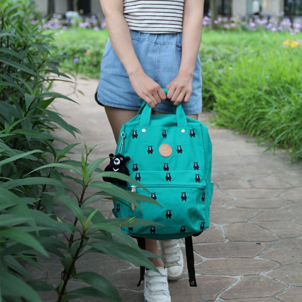 後背包-deya熊後背包 刺繡帆布 MIT台灣製造 加贈deya熊玩偶 1