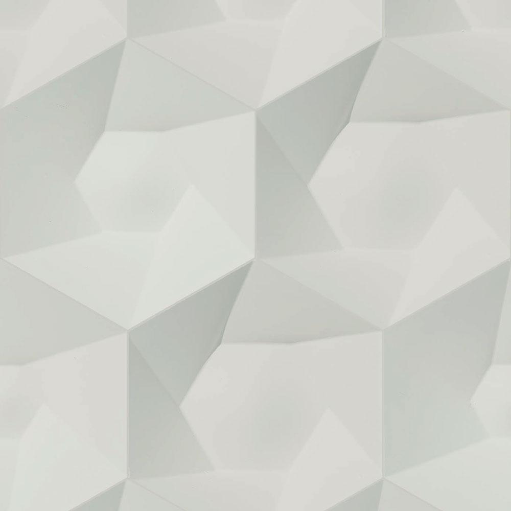 NLXL 灰色幾何形  3D 石紋 HEXA CERAMICS WALLPAPER BY STUDIO RODERICK VOS VOS-01 2
